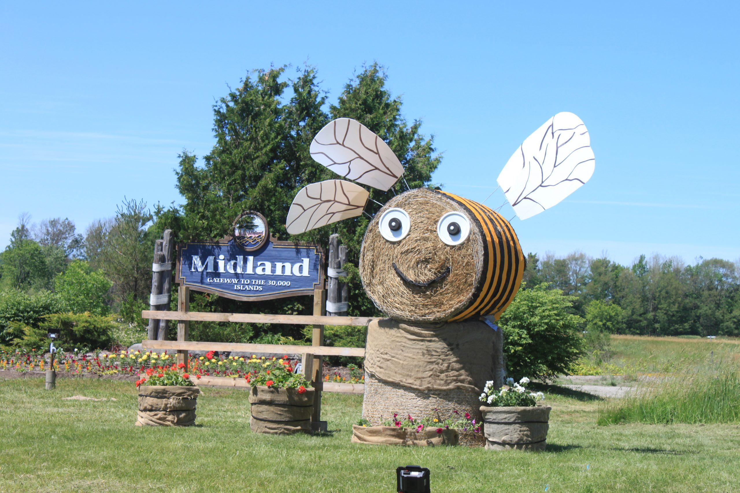 Town of Midland Bee City Display June 2021